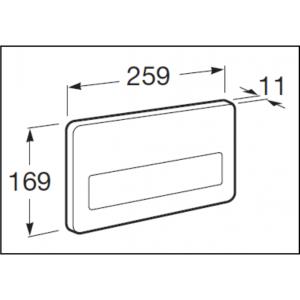 Клавиша для инсталляции Roca PL-3 электронная с ИК-сенсором, двойной смыв, для некомпактных версий 890097400