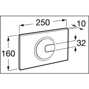 Клавиша для инсталляции Roca Duplo PL-4 двойной смыв, глянцевый хром 890098001