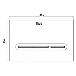 Клавиша для инсталляции Roca Duplo PL-5 двойной смыв, матовый хром 890099002