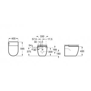 Электронный унитаз Roca Meridian In-Tank 893303000