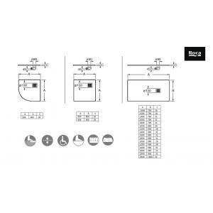Душевой поддон Roca Terran 1600X800 мм, цвет Blanco AP0164032001100