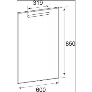 Зеркало Roca The Gap с LED-подсветкой и функцией антизапотевания 60 см ZRU9302688