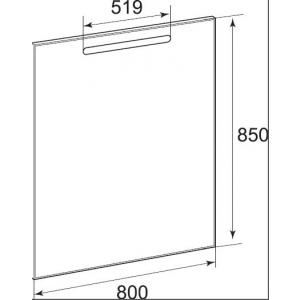 Зеркало Roca The Gap с LED-подсветкой и функцией антизапотевания 80 см ZRU9302689