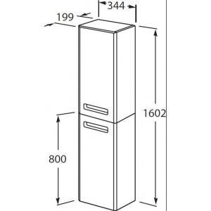 Шкаф-колонна Roca The Gap правый, белый матовый ZRU9302738