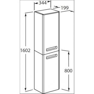 Шкаф-колонна Roca The Gap левый, белый матовый ZRU9302739