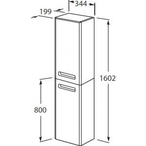 Шкаф-колонна Roca The Gap правый, фиолетовый ZRU9302746