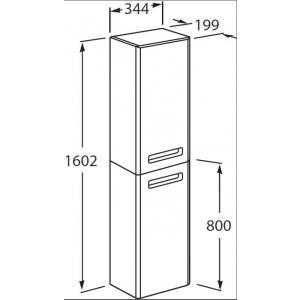 Шкаф-колонна Roca The Gap левый, фиолетовый ZRU9302747