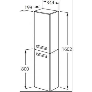 Шкаф-колонна Roca The Gap правый, белый глянец ZRU9302883