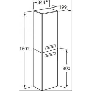 Шкаф-колонна Roca The Gap левый, белый глянец ZRU9302884