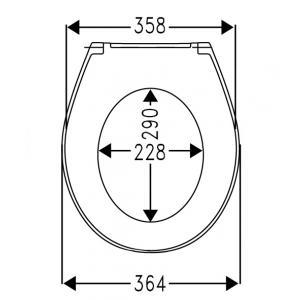 Крышка для унитаза Roca Victoria Nord Soft Close, петли хром ZRU9302919