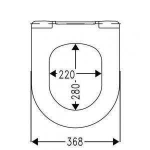 Крышка для унитаза Roca Leon Soft Close ZRU9302943