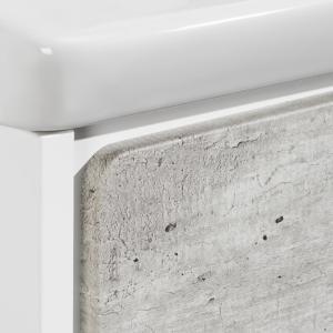Тумба под раковину Roca Ronda, 80 см, белый матовый/бетон ZRU9303004