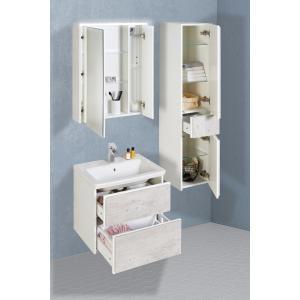 Шкаф-колонна Roca Ronda левый, белый матовый/бетон ZRU9303005
