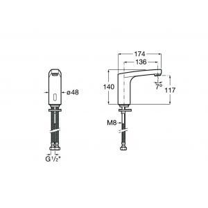 Смеситель Roca L70-E для раковины 5A5A09C00