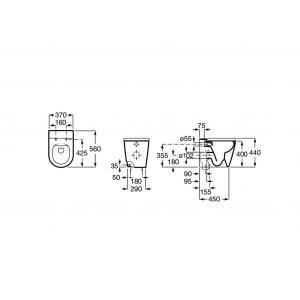 Комплект 4 в 1 напольный Roca Inspira Round Rimless 347526000GRP-0