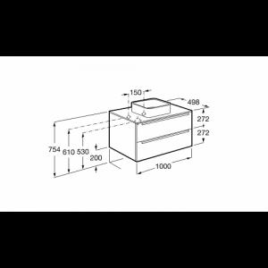 Комплект 3 в 1 Roca Inspira 100 см, дуб текстурированный матовый 851081402GRP