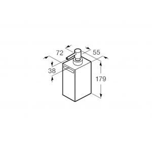 Диспенсер настольный Roca Rubik, черный матовый 816841024