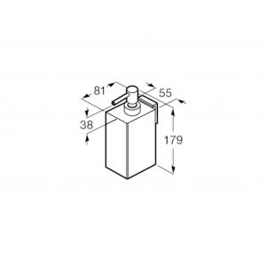 Диспенсер настенный Roca Rubik, черный матовый 816842024