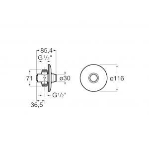 Кран для писсуара Roca Fluent порционно-нажимной ECO 5A9C24C00