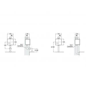 Панель электронная для писсуара Roca Sentronic-S, хром матовый 5A8102CM0