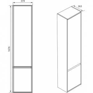 Шкаф-колонна Roca Laks правый, белый ZRU9302802