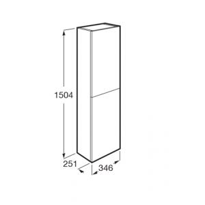 Шкаф-колонна Roca The Gap, универсальный белый глянец 857554806