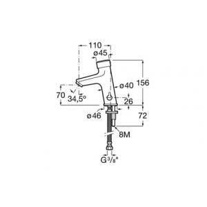 Смеситель для раковины порционно-нажимной Fluent 5A3A24C00