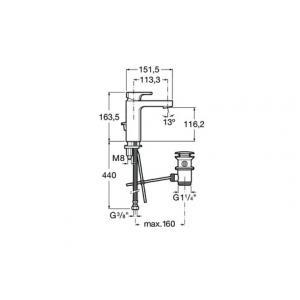 Смеситель Roca L90 С для раковины 5A3001C00