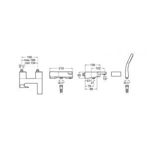 Смеситель для ванны Roca L90 с душем 5A0101C00