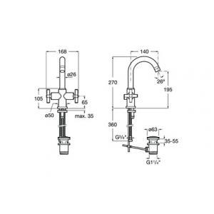 Смеситель Roca Loft для раковин 5A3043C00