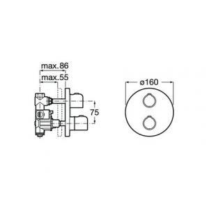 Термостат Roca T-500 для душа, хром 5A2B18C00