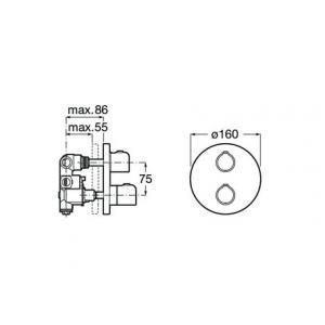 Термостат Roca T-500 для ванны-душа, хром 5A2A18C00