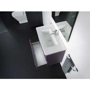 Комплект тумба + раковина Roca The Gap, 80 см, фиолетовая ZRU9302740 + 327470000