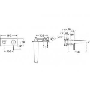 Смеситель Roca Insignia для раковины скрытого монтажа 5A353AC00