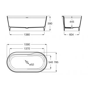 Ванна из композитного материала Surfex® Roca Alena 160х80 248467000