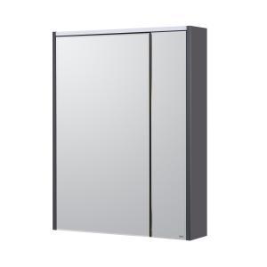 Комплект Roca Ronda 60 см, белый глянец/антрацит: тумба с раковиной, зеркальный шкаф, смеситель ZRU9302963GRP-1