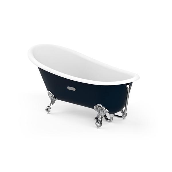 Ванна свободностоящая Roca Carmen темно-синяя, anti-slip 160х80 234250004