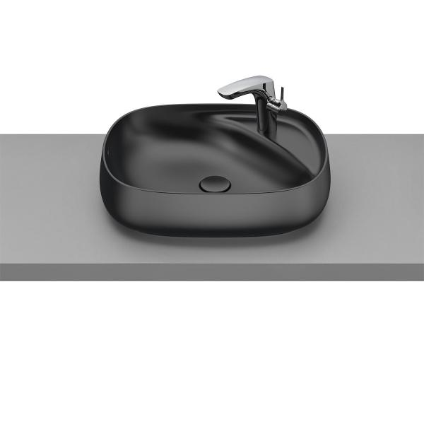 Раковина Roca Beyond 56х43 см, накладная черная 3270B8640