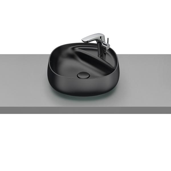 Раковина Roca Beyond 43х43 см, полувстраиваемая черная 3270B9640