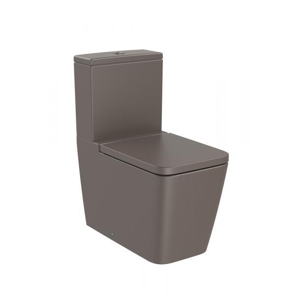 Чаша унитаза Roca Inspira Square Rimless напольная, кофейный 342536660