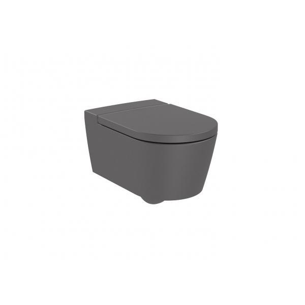Чаша унитаза Roca Inspira Round Rimless подвесная, оникс 346527640