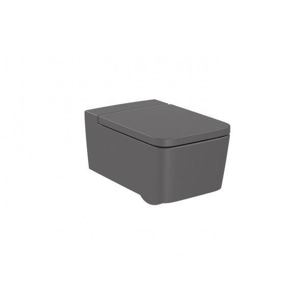 Чаша унитаза Roca Inspira Square Rimless подвесная, оникс 346537640