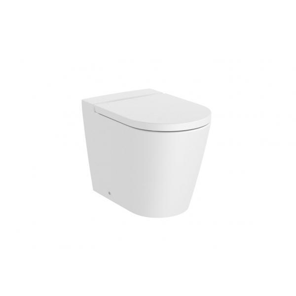 Чаша унитаза Roca Inspira Round Rimless приставная, белый матовый 347526620