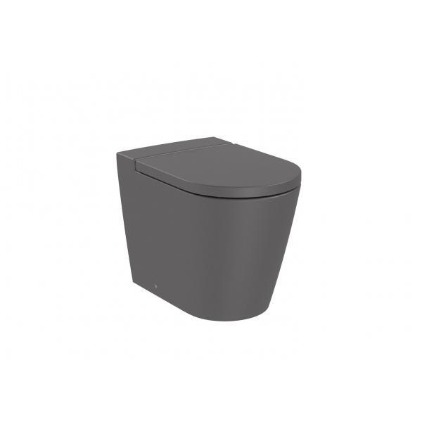 Чаша унитаза Roca Inspira Round Rimless приставная, оникс 347526640