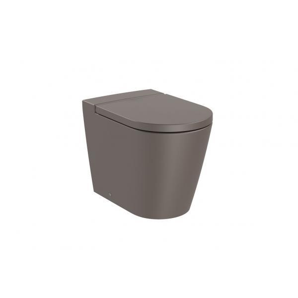 Чаша унитаза Roca Inspira Round Rimless приставная, кофейный 347526660
