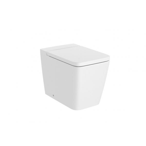 Чаша унитаза Roca Inspira Square Rimless приставная, белый матовый 347537620