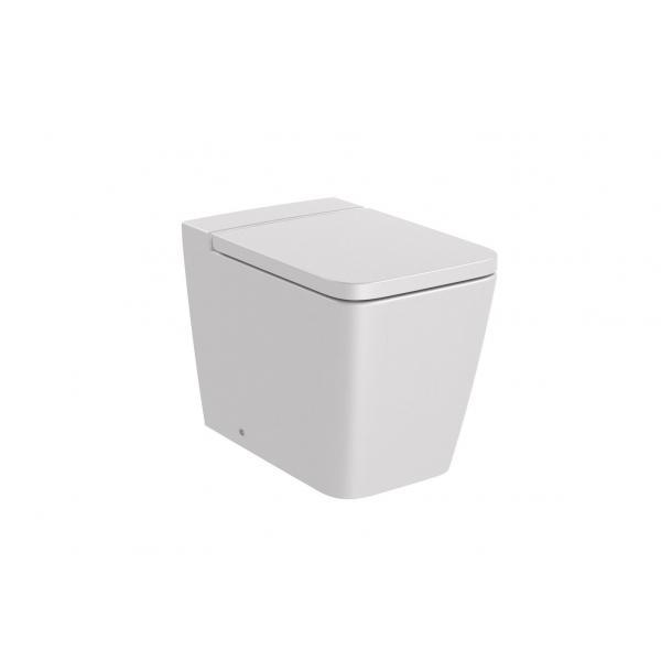 Чаша унитаза Roca Inspira Square Rimless приставная, жемчужный 347537630