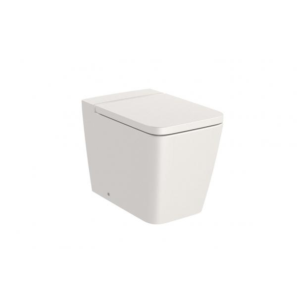 Чаша унитаза Roca Inspira Square Rimless приставная, бежевый 347537650