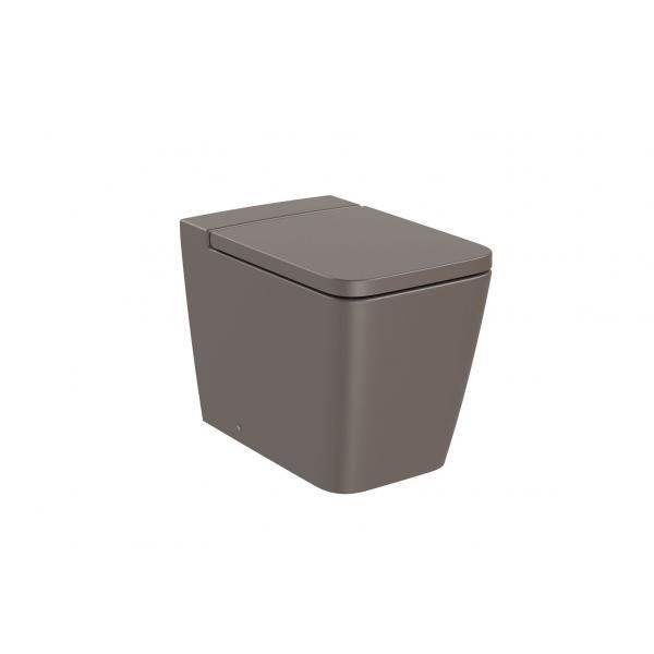 Чаша унитаза Roca Inspira Square Rimless приставная, кофейный 347537660