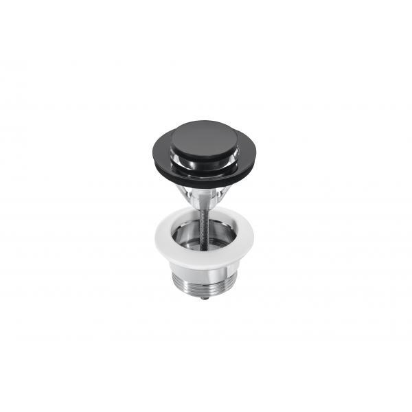 Донный клапан для раковины Roca Universal Click-Clack 40 мм Titanium Black 5054009CN